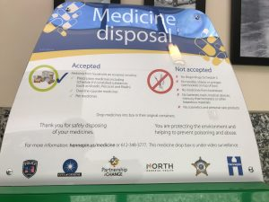 Med disposal box